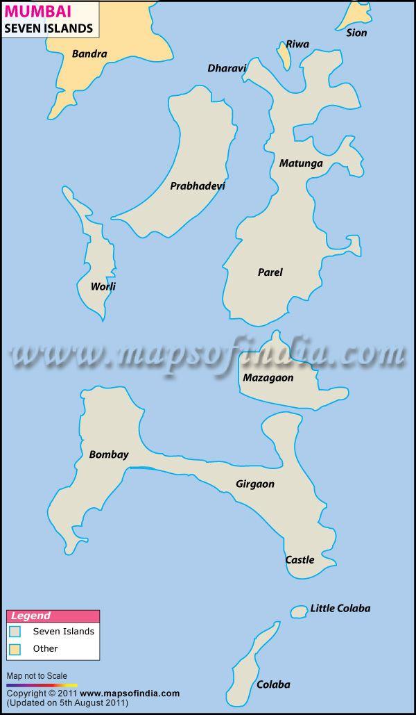 Seven Islands of Bombay Mumbai Seven Islands Map Seven Islands of Mumbai