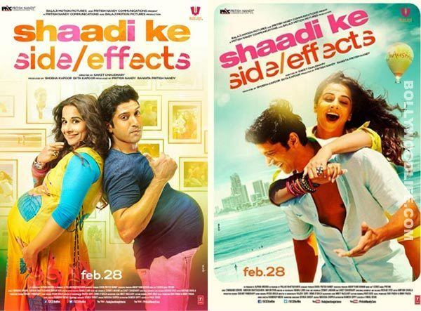 Why do the posters of Shaadi Ke Side Effects mismatch with the promo