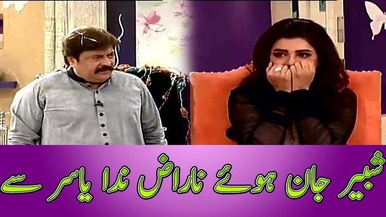 Shabbir Jan Shabbir Jan gets angry with Nida Yasir in Good Morning