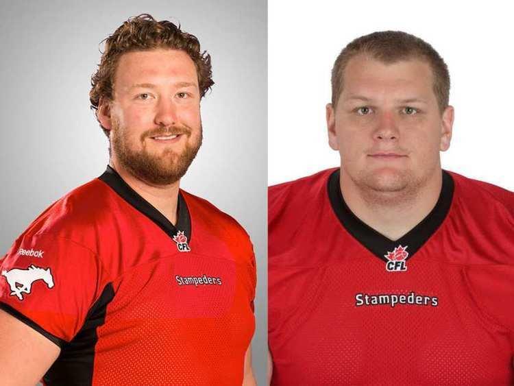 Shane Bergman Spencer Wilson and Shane Bergman sign with the Calgary Stampeders