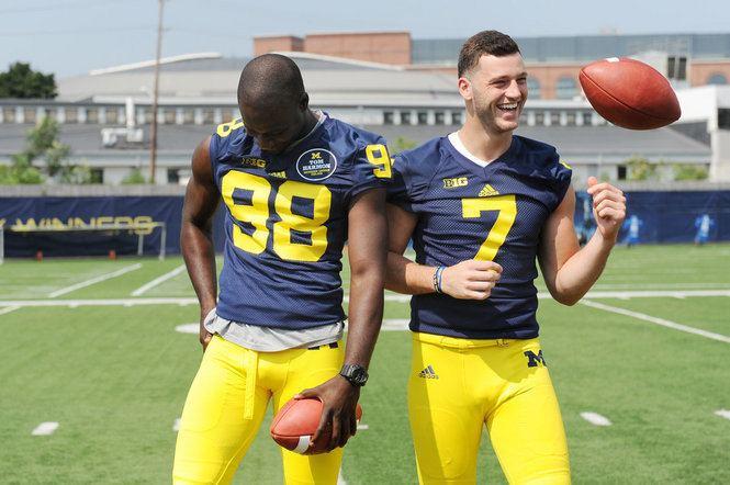 Shane Morris Photo gallery Michigan quarterbacks Devin Gardner and