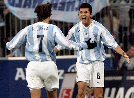 Shao Jiayi Shao39s goal help Munich 1860 go atop Bundesliga 2