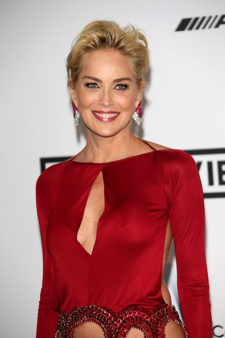 Sharon Stone amfAR Fug Carpet at Cannes Sharon Stone in Roberto