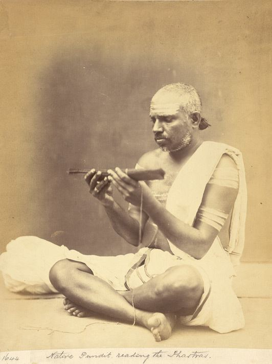 Shastra PEOPLE OF INDIA PHOTOS Pundit reading the shastras Madras