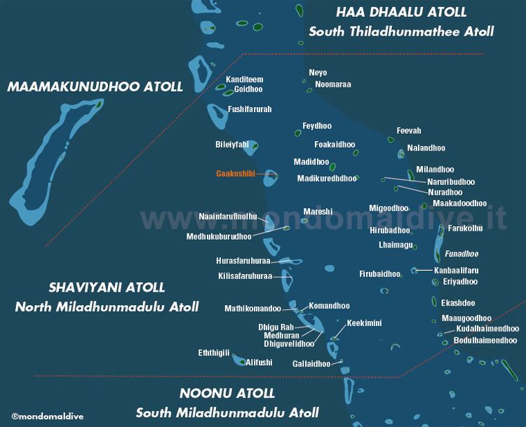 Shaviyani Atoll Map of Shaviyani Atoll in Maldives