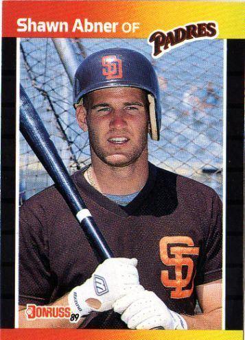 Shawn Abner SAN DIEGO PADRES Shawn Abner 323 DONRUSS 1989 MLB
