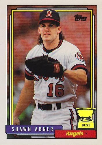 Shawn Abner Baseball Card Bust Shawn Abner 1992 Topps