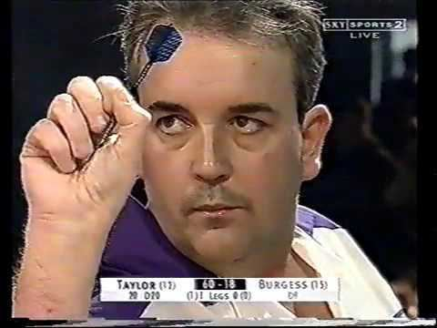 Shayne Burgess PDC WORLD DARTS 2002 ROUND 2 Phil Taylor v Shayne Burgess YouTube