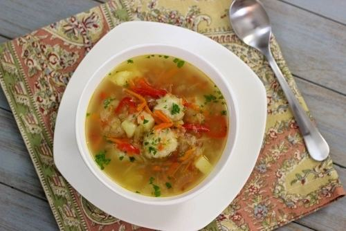 Shchi Shchi Russian Cabbage Soup With Meatballs Olga39s Flavor Factory