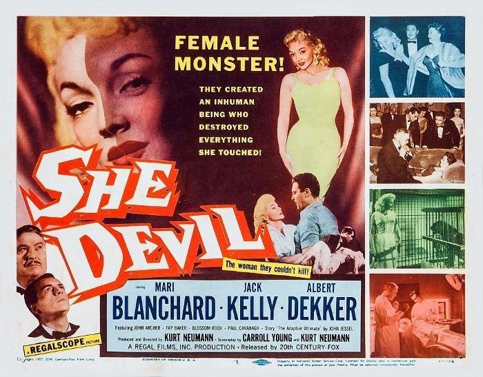 She Devil (1957 film) SheDevil 1957 3B Theater Poster Archive