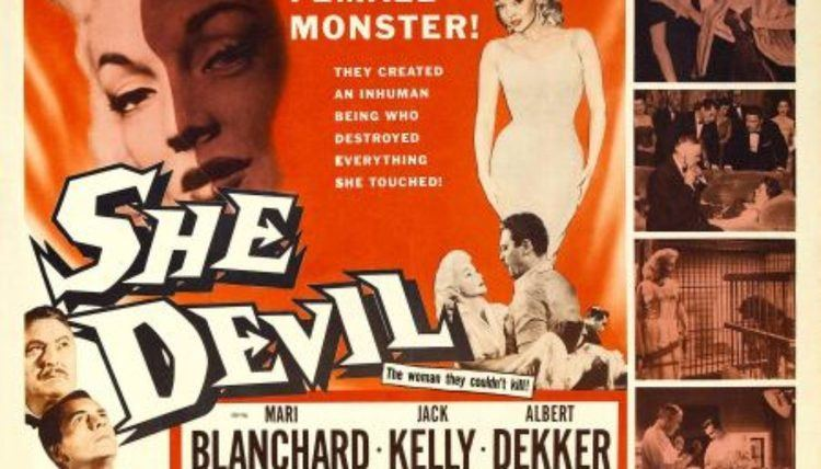 She Devil (1957 film) Bills Bizarre Bijou SHE DEVIL 1957 Cinema Knife Fight