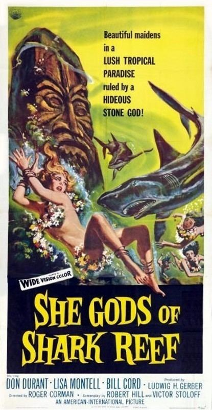 She Gods of Shark Reef She Gods of Shark Reef 1958 3B Theater Poster Archive