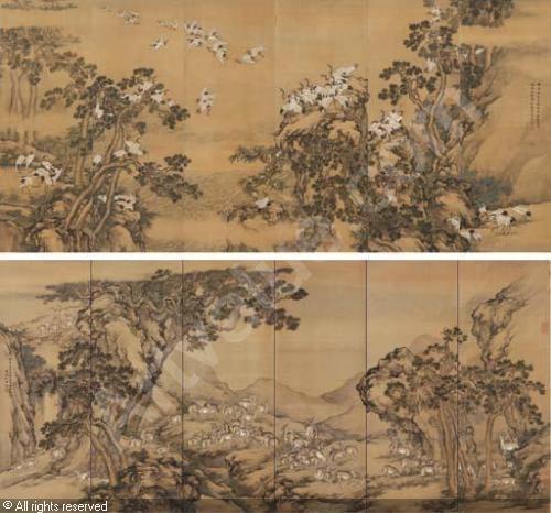 Shen Quan 1 CRANES OF LONGEVITY 2 DEER OF PROSPERITY sold by