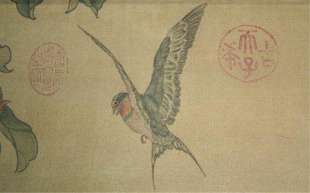Shen Quan Chinese Qing Birds Scroll Painting Shen Quan Lot 16