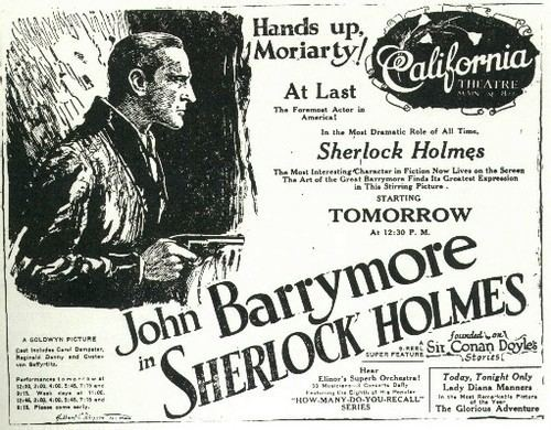 Sherlock Holmes (1922 film) Sherlock Holmes 1922 Behind the times and loving it
