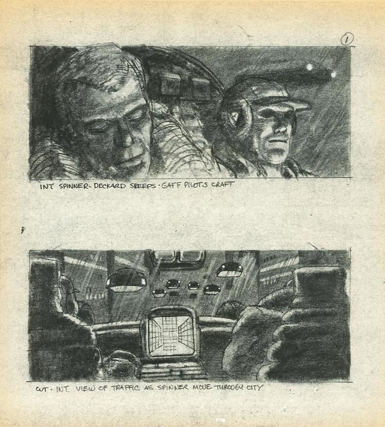 Sherman Labby Blader Runner storyboard by Sherman Labby science fiction