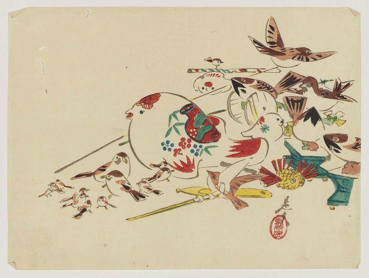 Shibata Zeshin Bird Toys Shibata Zeshin WikiArtorg