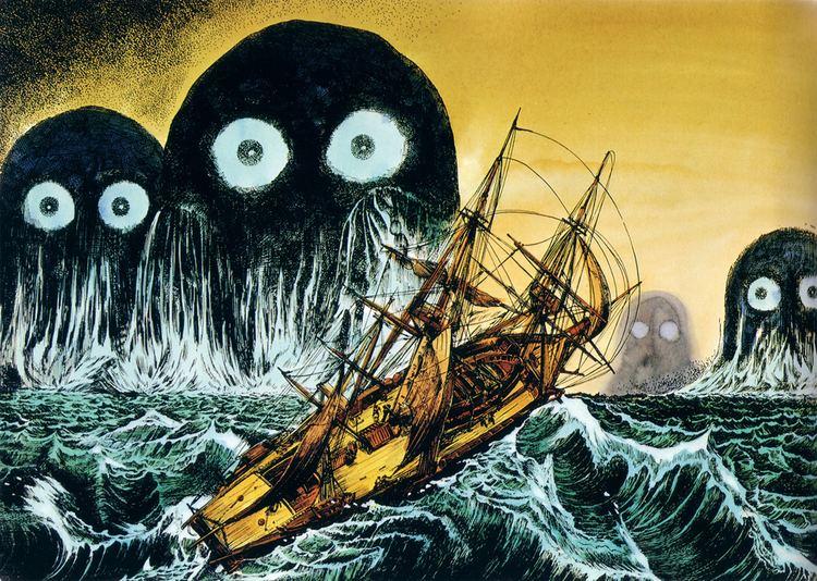Shigeru Mizuki This drawing by Shigeru Mizuki creepy