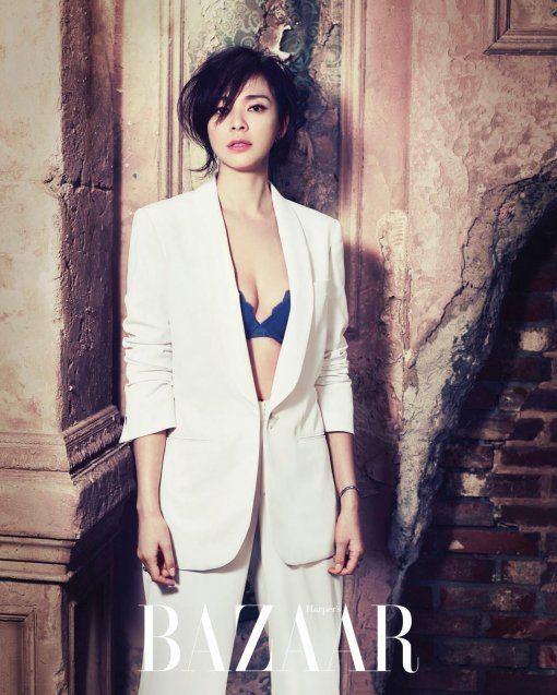 Shiho Yano Yano Shiho Poses in Her First Lingerie Shoot in Korea for Harper39s