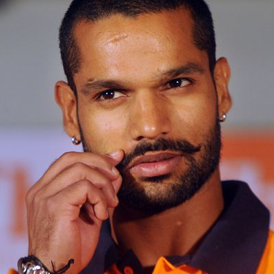 Shikhar Dhawan (Cricketer) playing cricket