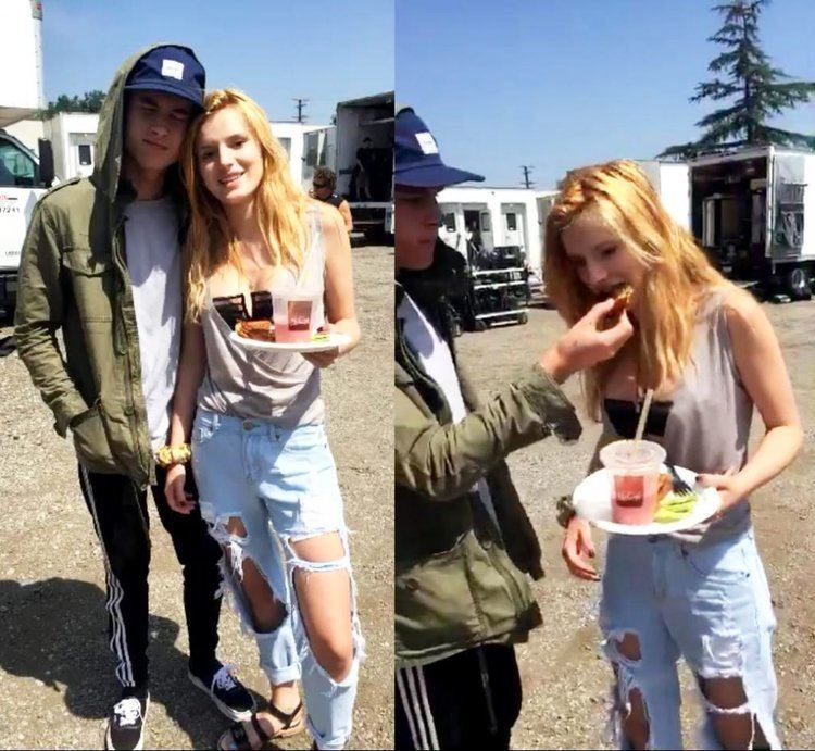 Shovel Buddies movie scenes Kian Lawley feeds Bella Thorne