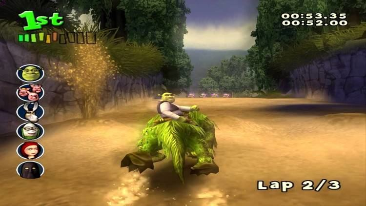 Shrek Smash n' Crash Racing Shrek Smash n39 Crash Racing PS2 walkthrough Swamp YouTube