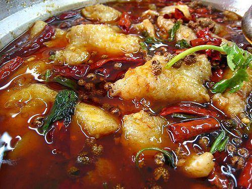Shuizhu Shui Zhu Yu Water Boiled Fish Special Szechuan dish very hard to