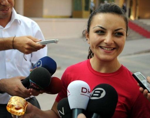 Sibel Ozkan Sibel zkan A Turkish Female Olympic medalist weightlifter