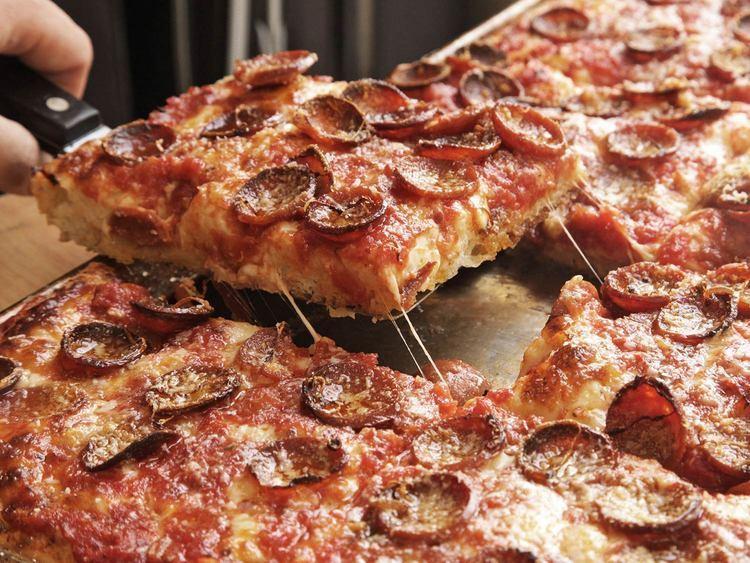 Sicilian pizza Sicilian Pizza With Pepperoni and Spicy Tomato Sauce Recipe