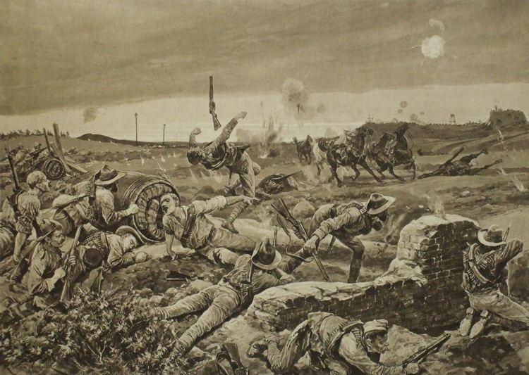 Siege of Mafeking British soldiers being raided by boer commandos Siege of Mafeking