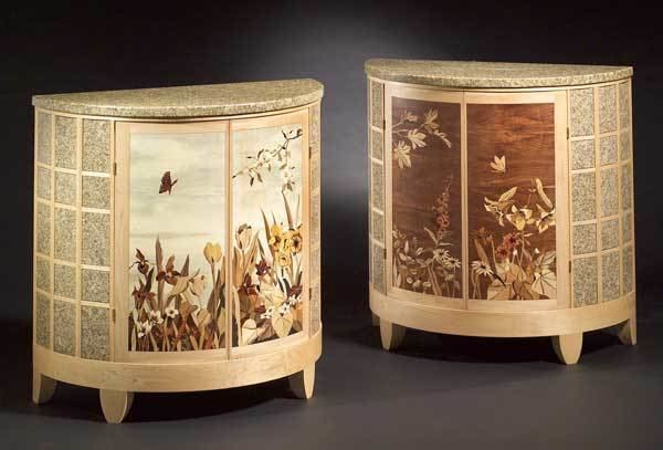 Beau Silas Kopf Collection Of Magnificent Woodworks Marquetry Furniture