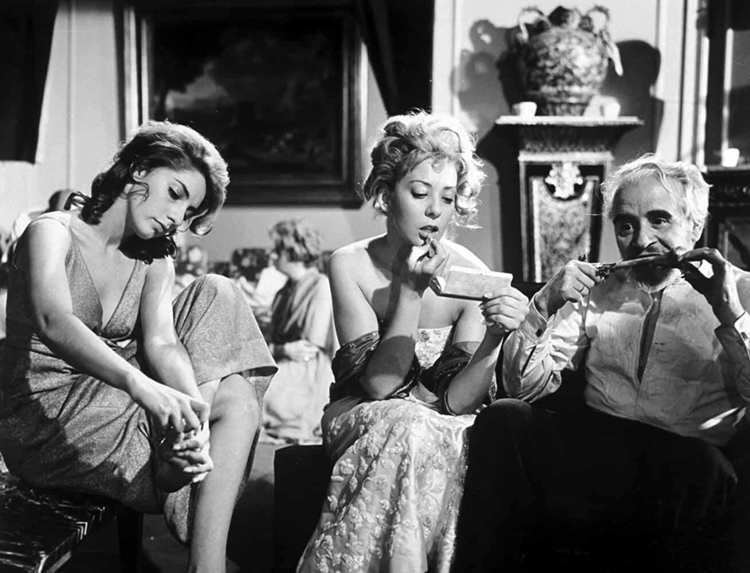 Jacqueline Andere, Enrique García Álvarez, and Silvia Pinal in El ángel exterminador (1962)