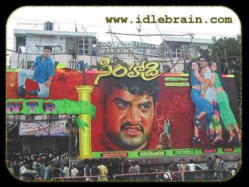 Simhadri (2003 film) Telugu cinema movie posters Simhadri NTR bhoomika Chawla