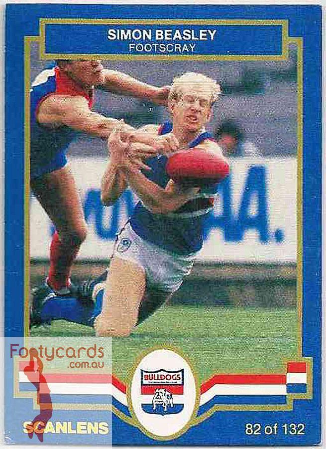 Simon Beasley 19911963 1986 VFL Scanlens 1986 VFLAFL Scanlens