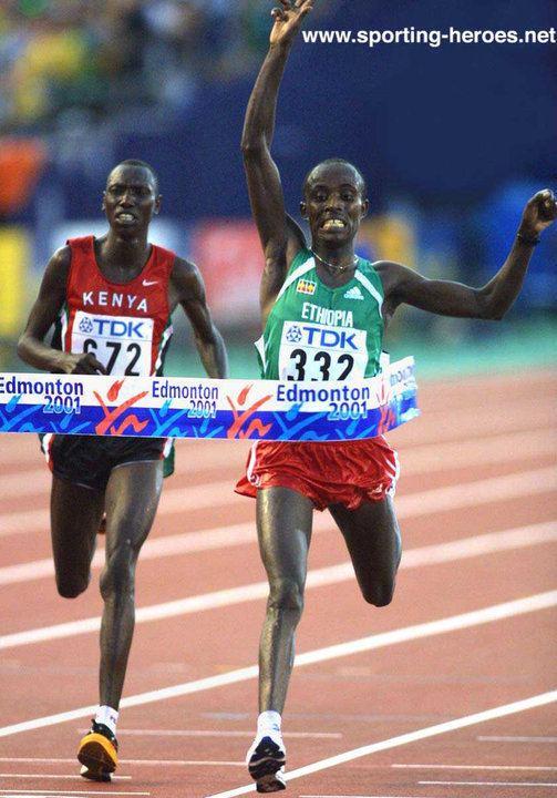Simon Biwott Simon BIWOTT Marathon silver at 2001 World Championships Kenya