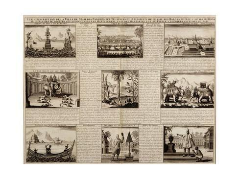 Simon de la Loubère Various Views of Siam and Ayutthaya from 39Du Royaume De Siam by