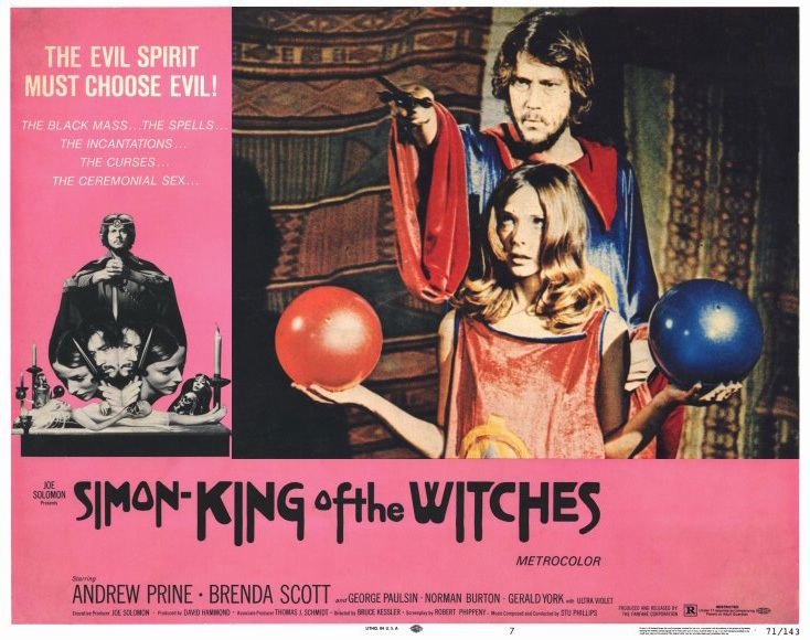 Simon, King of the Witches Movie of the Day Simon King of the Witches 1971 CHUDcom