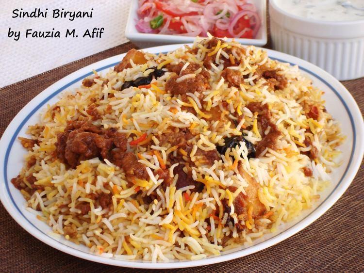 Sindhi biryani Sindhi Biryani Fauzia39s Kitchen Fun