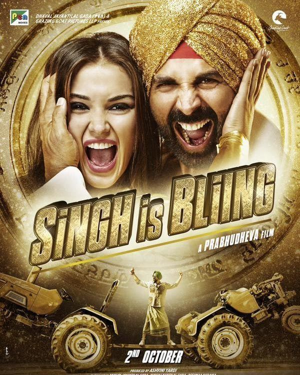 Singh Is Bliing Singh Is Bliing new posters No one can pull off bling like Akshay