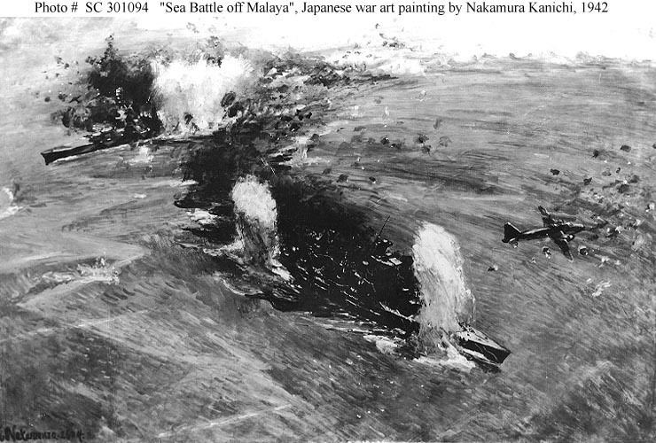 Sinking of Prince of Wales and Repulse British Navy ShipsHMS Prince of Wales 19411941