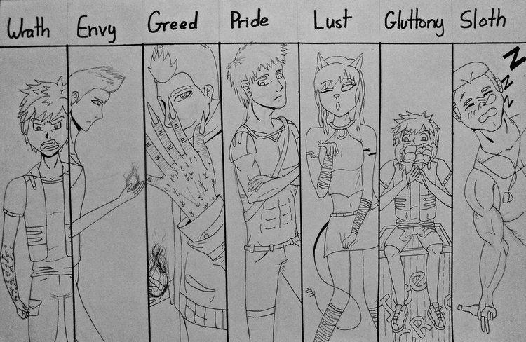 Sins of Man Seven Deadly Sins of Man OC version by nizzie12 on DeviantArt