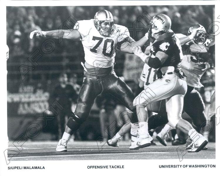 Siupeli Malamala 1991 Washington Huskies Football Player Tackle Siupeli Malamala