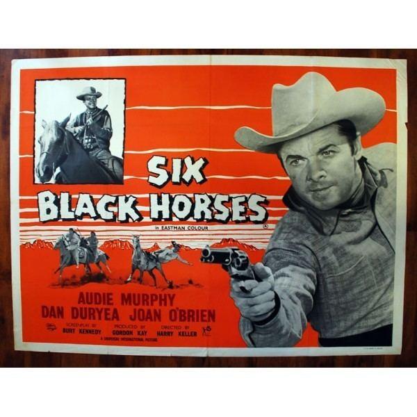 Six Black Horses Six Black Horses 1962 Original British Quad