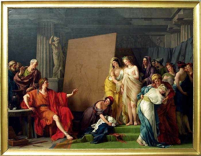 Skona Helena movie scenes The scene tells the story of the painter Zeuxis who was commissioned to produce a picture of Helen for the