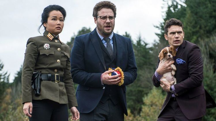Sky Larks movie scenes PHOTO From left Diana Bang Seth Rogen and James Franco are pictured