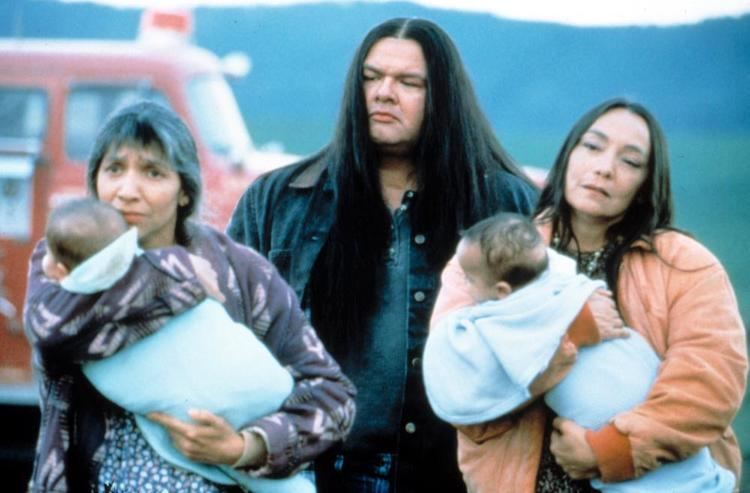 Smoke Signals (film) movie scenes The morning after the fire From left Monique Mojica Gary Farmer Tantoo Cardinal