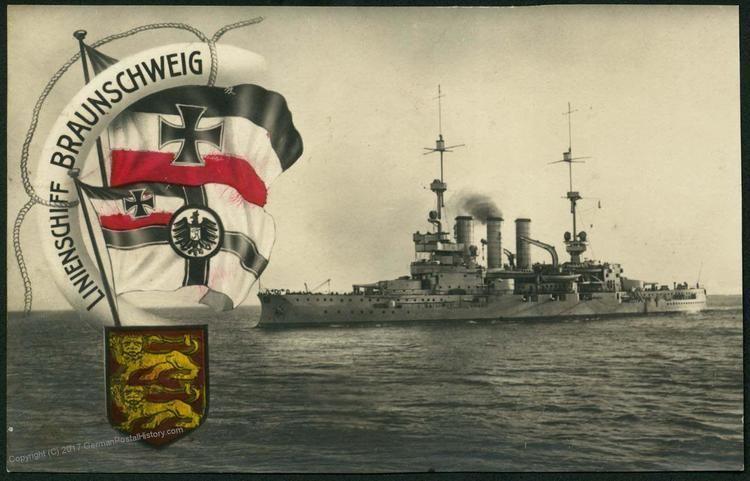 SMS Braunschweig German WWI Navy Ship SMS Braunschweig RPPC GermanPostalHistorycom