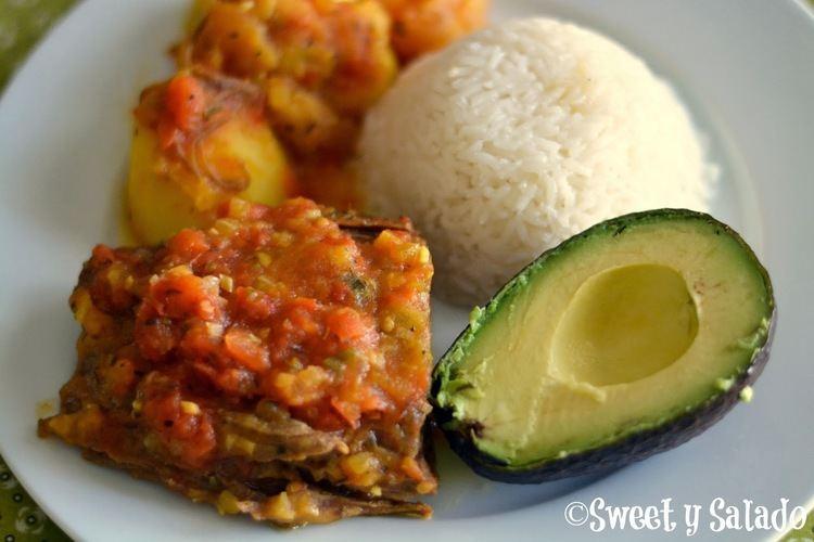 Sobrebarriga Sweet y Salado Colombian Flank Steak With Creole Sauce