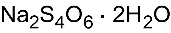 Sodium tetrathionate Synthesis of sodium tetrathionate PrepChemcom