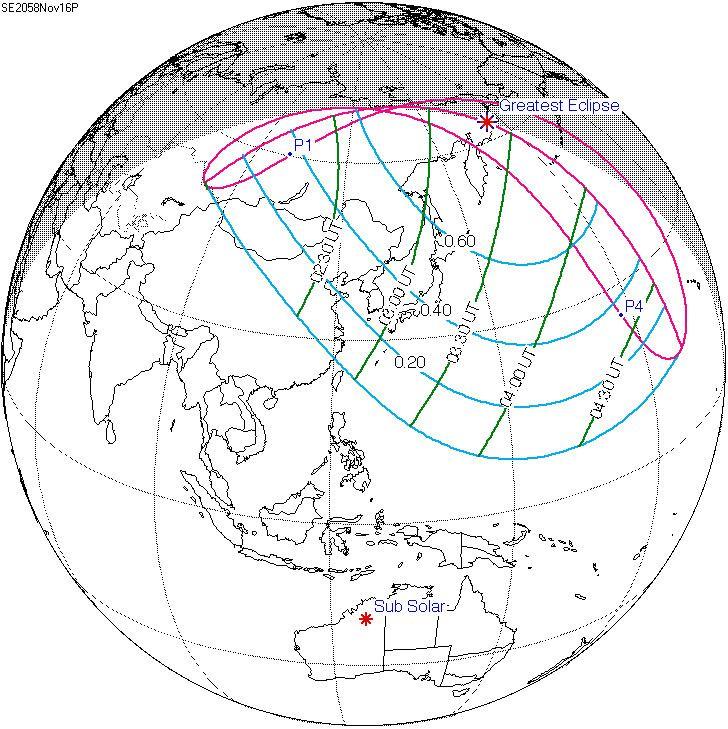 Solar eclipse of November 16, 2058